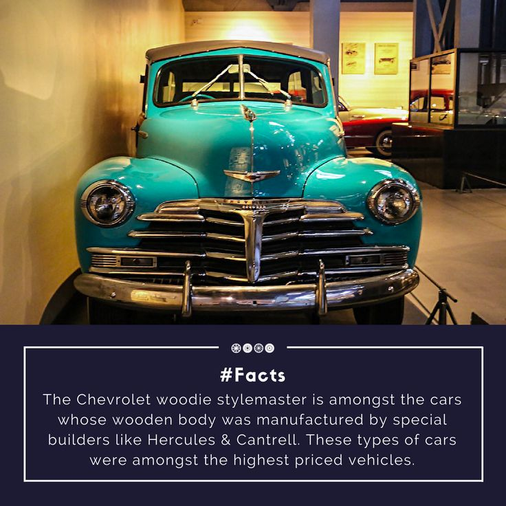 A 1947 Chevrolet Woodie Stylemaster!  #factfriday #chevrolet #vintagetransport #vintagecars #facts #transportmuseum #vintagevehicles #travel #incredibleindia