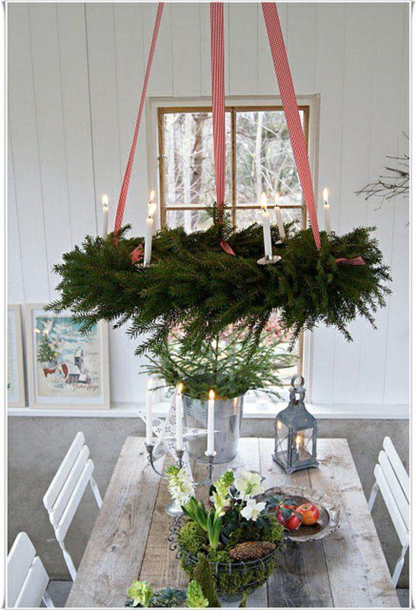 türkranz weihnachten tischdeko ideen