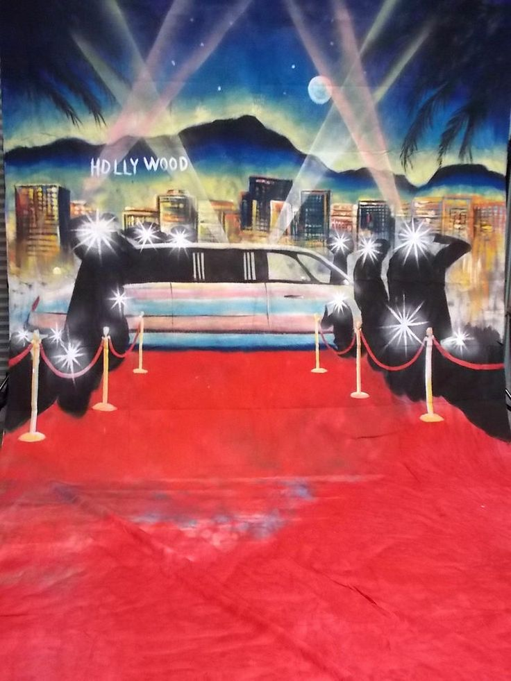 HOLLYWOOD RED CARPET 10x20FT MUSLIN PHOTOGRAPHY BACKDROP