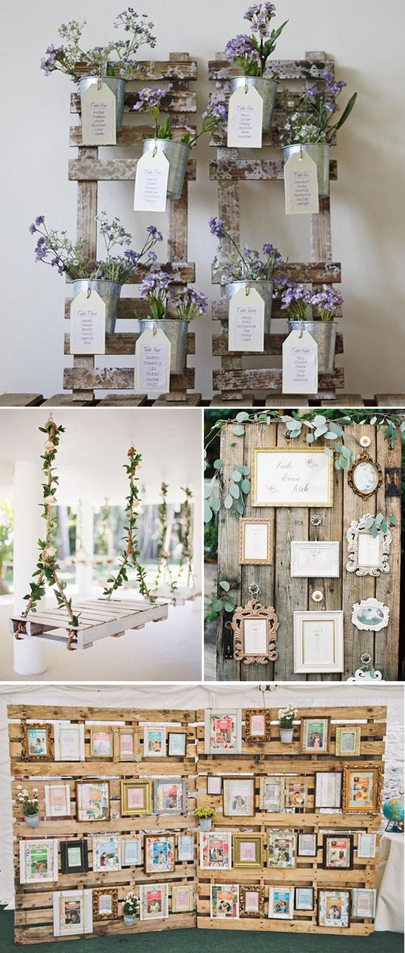 Decoración de bodas con pallets