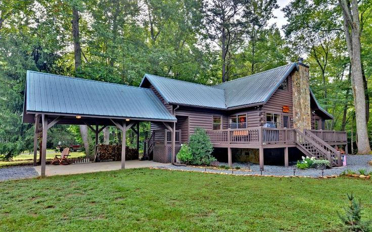 Gorgeous Creek Front Cabin w/ pond in Nat. Forest in Blue Ridge