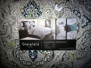 Tahari Paisley Floral Medallion King Duvet Set 3 NIP   eBay