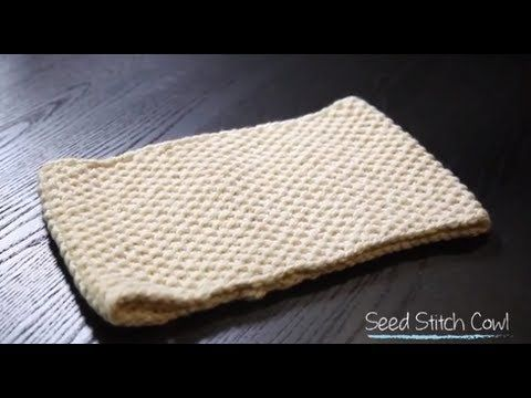Knit Seed Stitch Cowl (with free pattern) | 1 Hour Project Knitting Tuto...