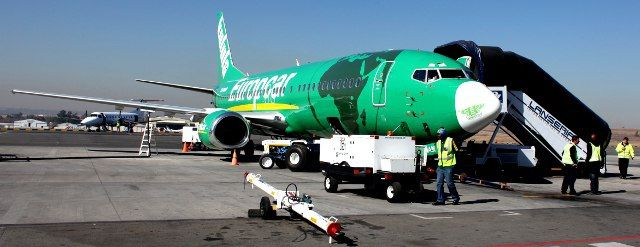 Kulula plane parked at Lanseria Airport, Johannesburg
