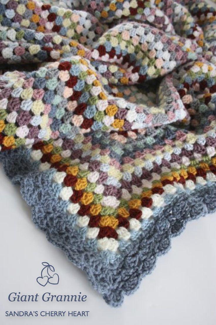 granny square blanket - love the colors :)