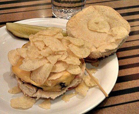 The Crunchburger at Bobby's Burger Palace in Washington, DC