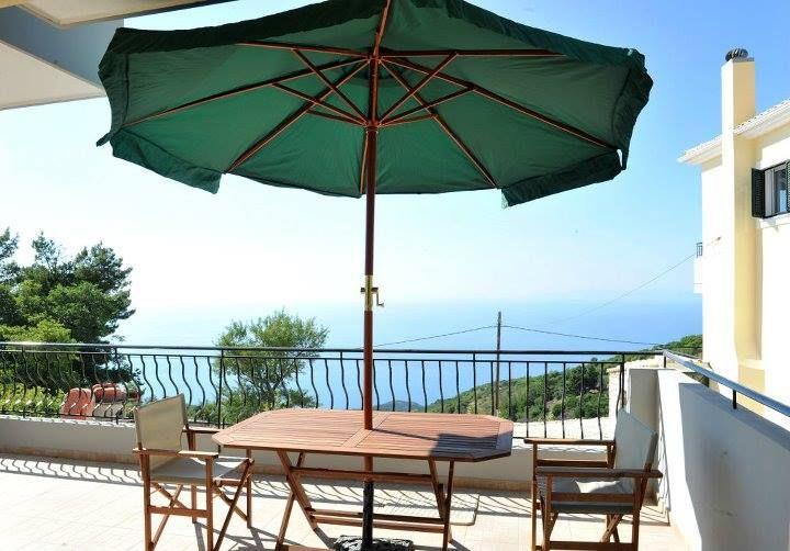 The Ionian Sea from the balcony of Natura Villas