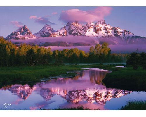 Puzzle Schmidt  Amanecer en las Montañas Nevadas de 1000 Pieza