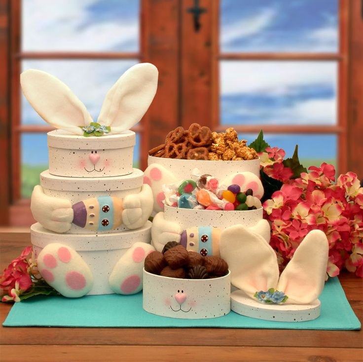 170 best unique gift baskets images on pinterest christmas a sweet and festive gift for anybunny big or small this sweet bunny tower is sure to bring a smile to their face negle Choice Image