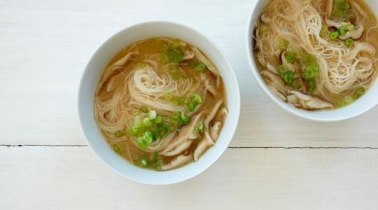 Ginger-Lemon Broth with Rice Noodles Recipe from Jessica Seinfeld