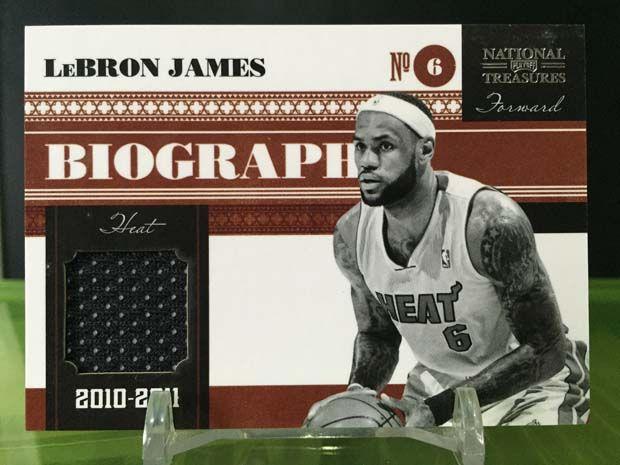 Lebron James Cards – 2010/11 Panini National Treasures Basketball (Biography)