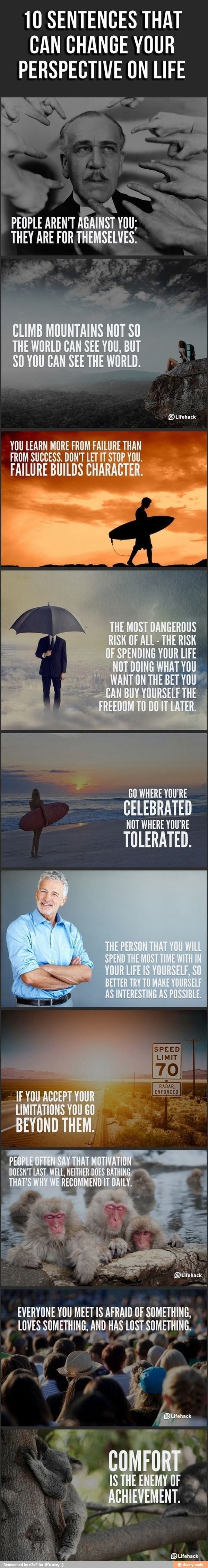 10 sentences that can change your perspective on #Life.