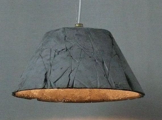 Floating concrete sounds interesting. Concrete Pendant Light Catherina by ckleosteen #home #concrete #lighting