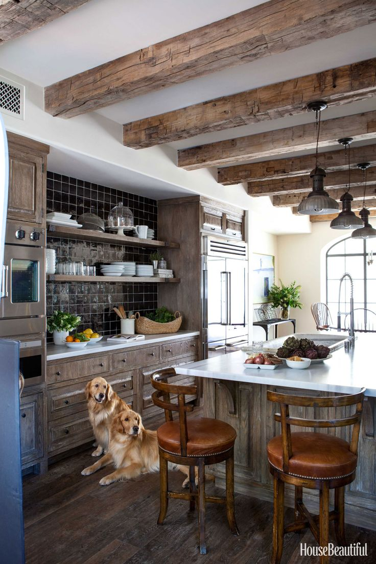 An Old Wood Kitchen With Graphic Black And White Accents Part 69