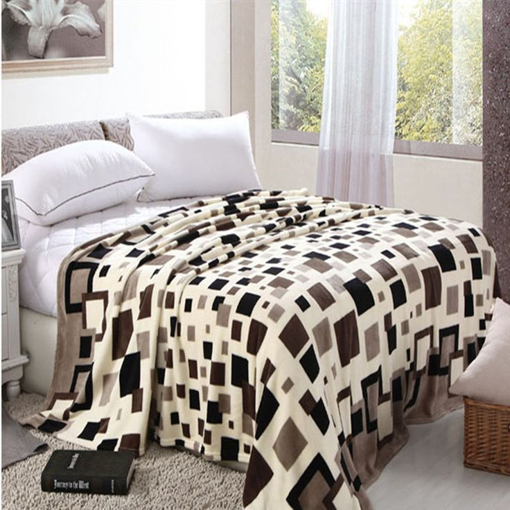 Hot Sale Coral Fleece Fabric Blanket Throws On Sofa/Bed/Plane/Travel Plaids Modern Style Soft Bed Sheet yl02 #jewelry, #women, #men, #hats, #watches, #belts, #fashion