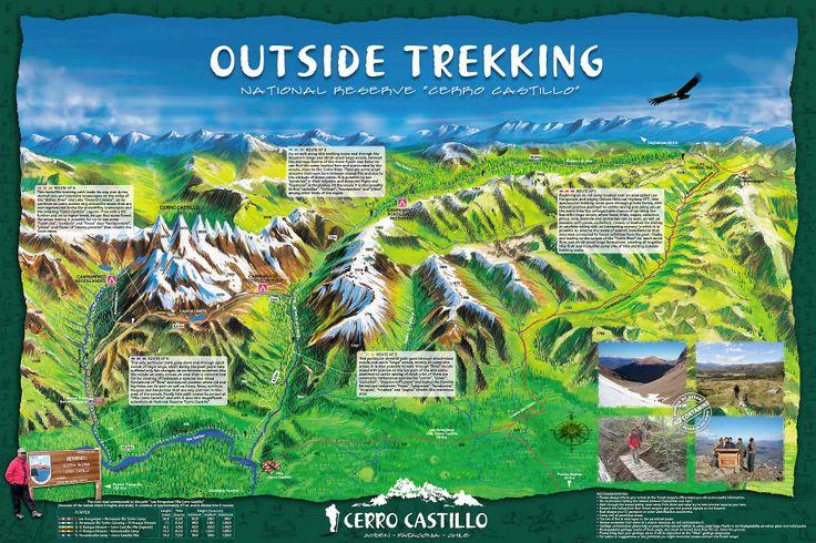 Cerro Castillo - Patagonia, Chile - Trekking Map