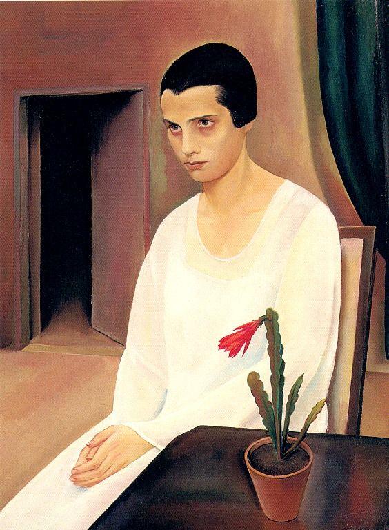 Sergius Pauser, Dame in Weiß (Fräulein Sokal), 1927