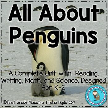 Students absolutely enjoy learning about Penguins.This is a complete reading, writing, science, and math penguin unit. Your students will enjoy learning all about penguins while improving their reading, writing, science, and math skills.