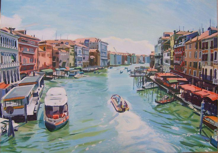 Venice, 50x70 cm, acrylic on canvas