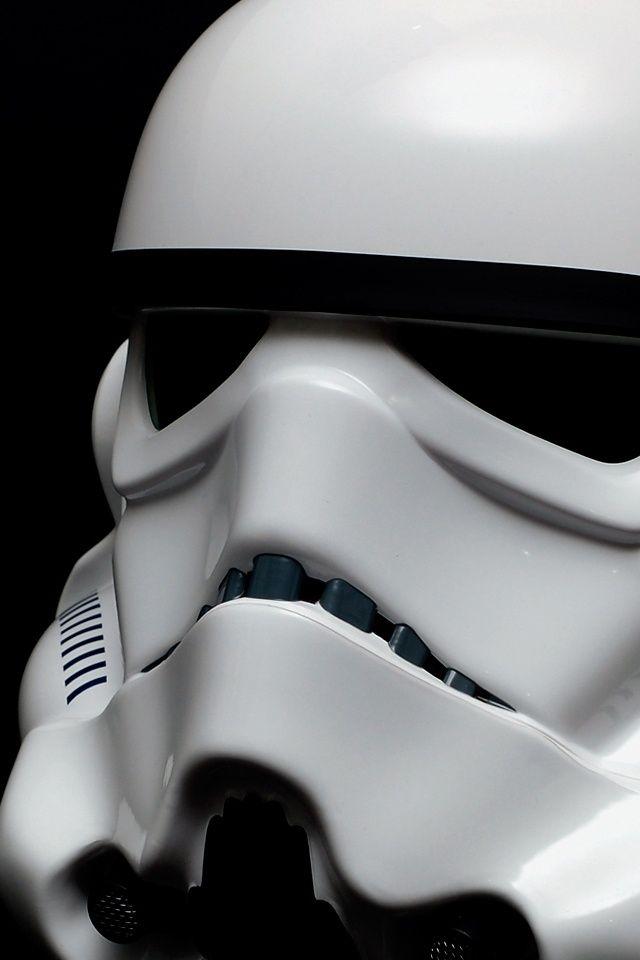 Storm Trooper iPhone Wallpaper in profile