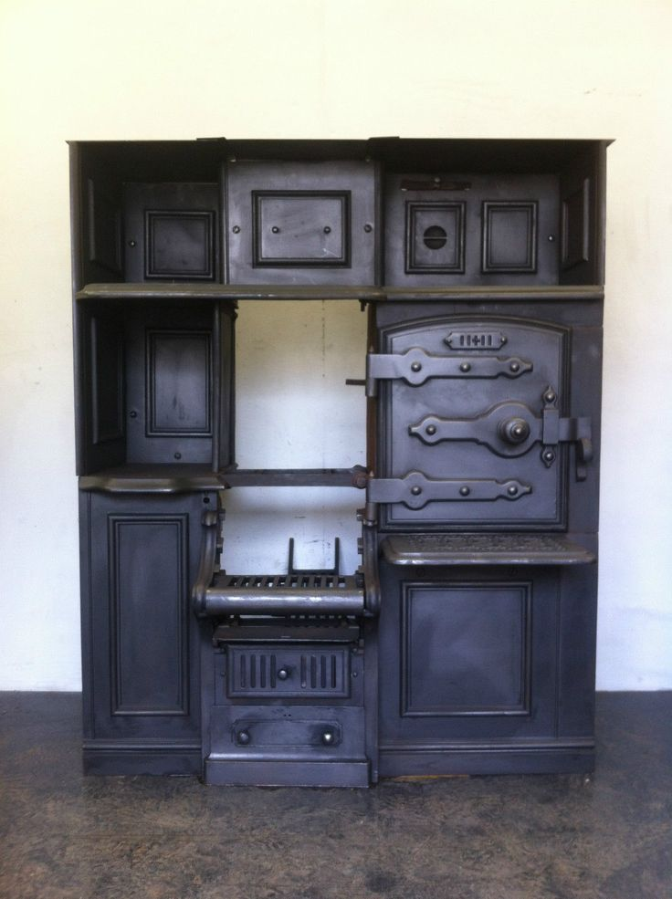 Superior Restored Antique Victorian Cast Iron Kitchen Cooking Range Fireplace Hob  (PK328) | EBay