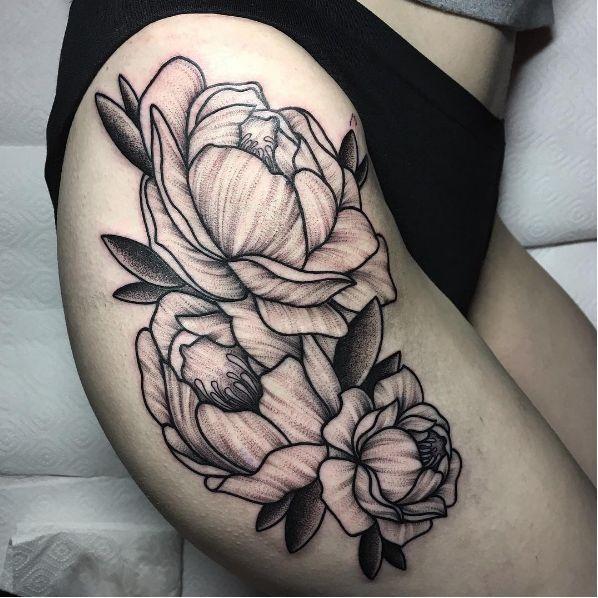 Awesome flower blackwork blackwork finelines flowers AnastasiaSlutskaya