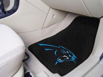 Carolina Panthers carpet car mat