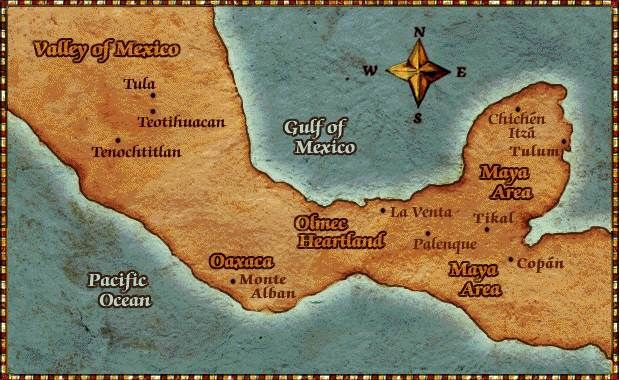 Map Of Mexico Labeled With Aztec Mayan Cities Yay Finally O
