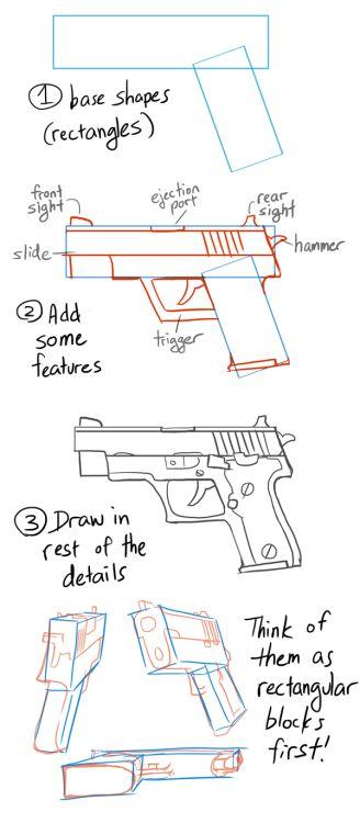 銃の書き方