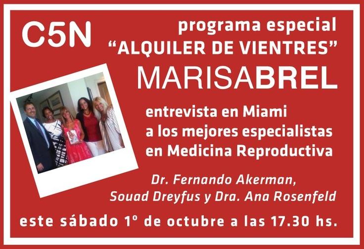 """Programa especial sobre """"Alquiler de Vientres"""". C5N. Buenos Aires. Argentina."""