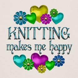knitting happiness . My mom made lots of cute things when her hands felt like it. My knitting board makes me think of her. :D