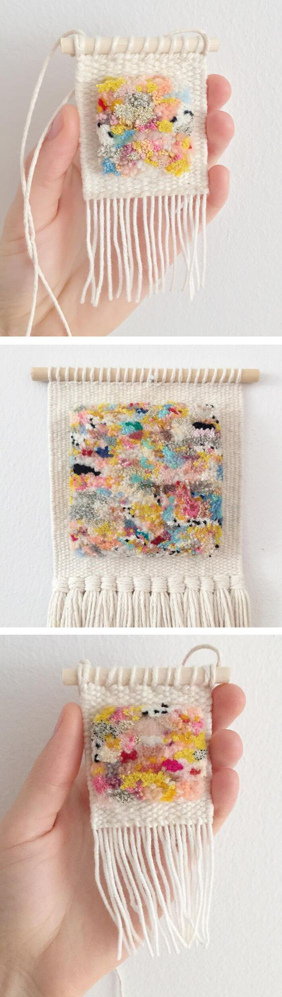Weaving by Allyson Rousseau // wall hangings // yarn art