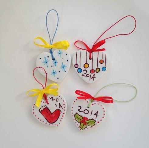 CHRISTMAS Ornaments for the wall  FREE SHIPPING by IoannasVeryCHic,
