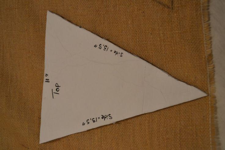 Create a template 1024x682 DIY Burlap Pennant Banner