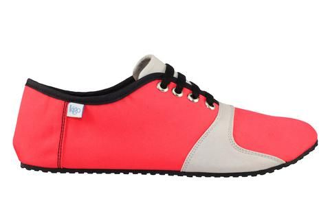 kigo footwear minimalist pai poppy red casual shoe with lacing