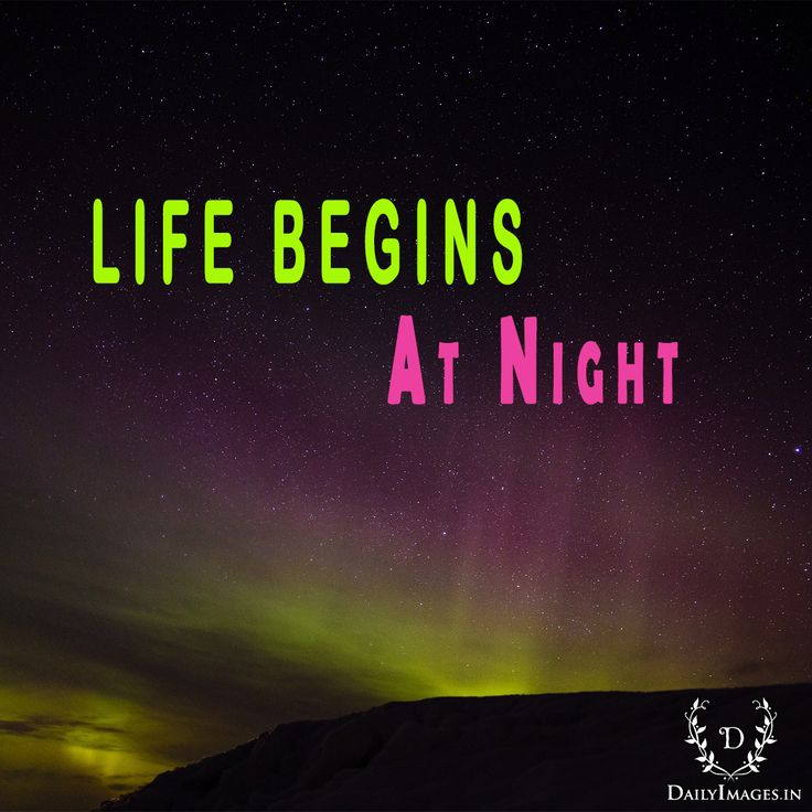 Life Begins At night #goodnight #gn #quotes