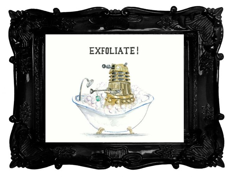 doctor who dalek humour exfoliate bathroom decor - Spot Applique Sdb