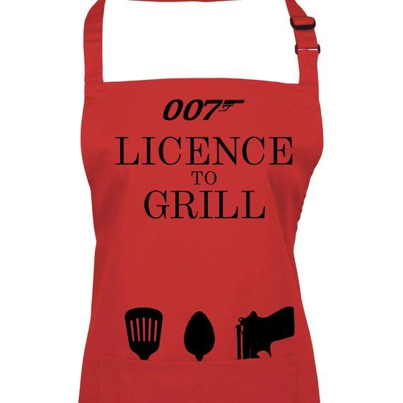 License To Grill Barbeque Grilling Apron