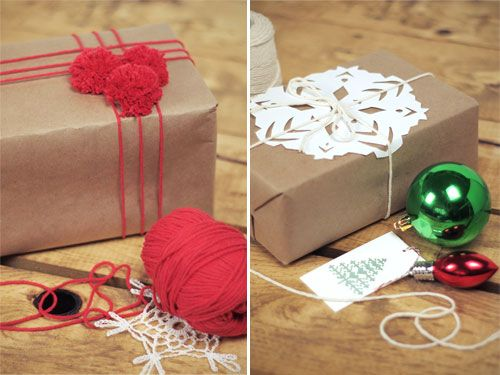 DIY: holiday gift wrap - I love wrapping with plain brown paper