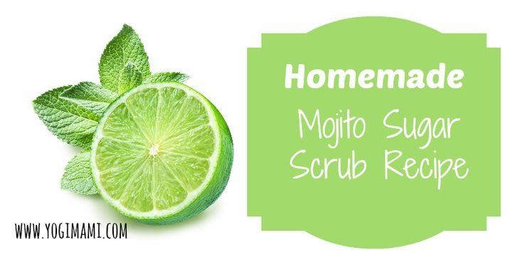 Easy and homemade Mojito Sugar Scrub Recipe.