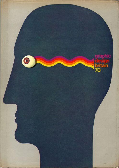 Roger Edwards, cover artwork for Graphic Design Britain 70, 1970. #graphicdesign #cover #rogeredwards