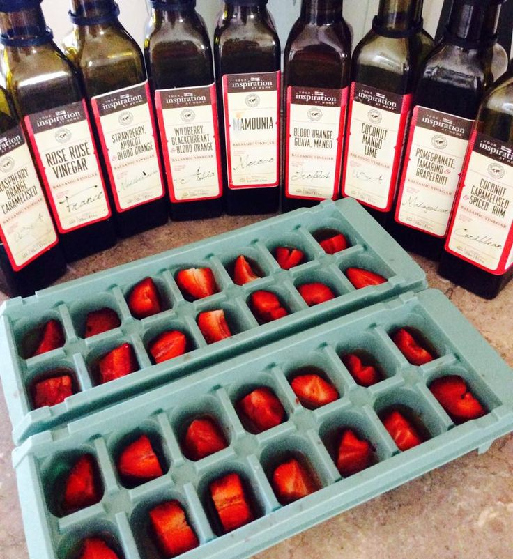 Did your ice cube trays get a little ignored over the Winter months ? Nows the time to FILL them up ready for the glorious Spring and Summer Days ahead of us I simply filled with fresh strawberries a good dribble of a few of my YIAH Sweet Balsamic Vinegars and topped with water