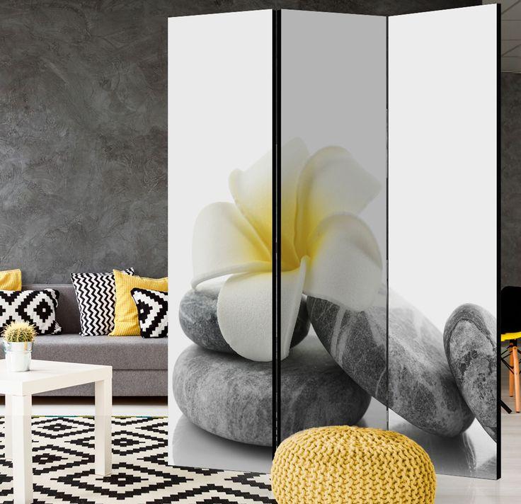 """Biombo original """"White Lotus"""" (Loto blanco) queda perfecto en un salon de belleza, SPA o un cuarto de baño, por ejemplo, para separar la bañera del resto del interior ツ"""