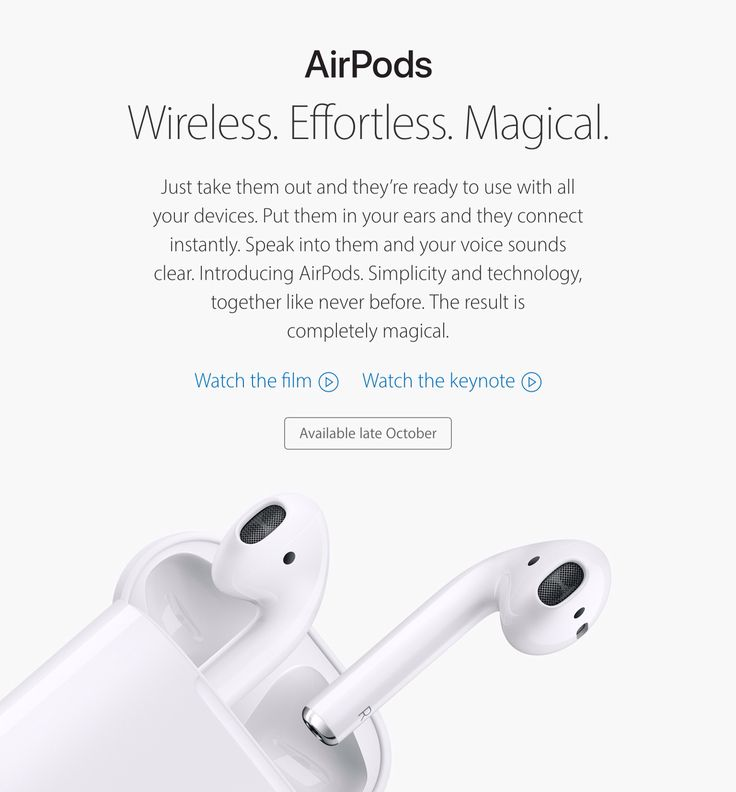 I present the new AirPods presented at the last keynote