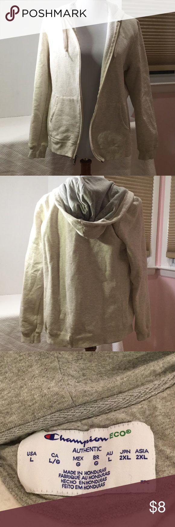 Women's Champion zipper hoodie Light grey zip up hoodie great condition Champion Jackets & Coats