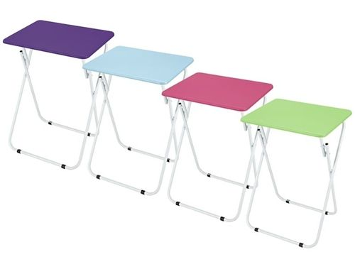 Foldable Dorm Eating Table College Furniture Supplies Meals Dinner Flat Surface Space Compact