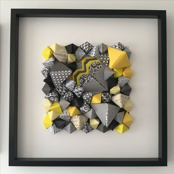 Unique 3d Original Handmade Art #3dArt #originalart #yellowgrey #interiordesign #interiordesignideas #uniqueart #uniquegiftideas #proposal