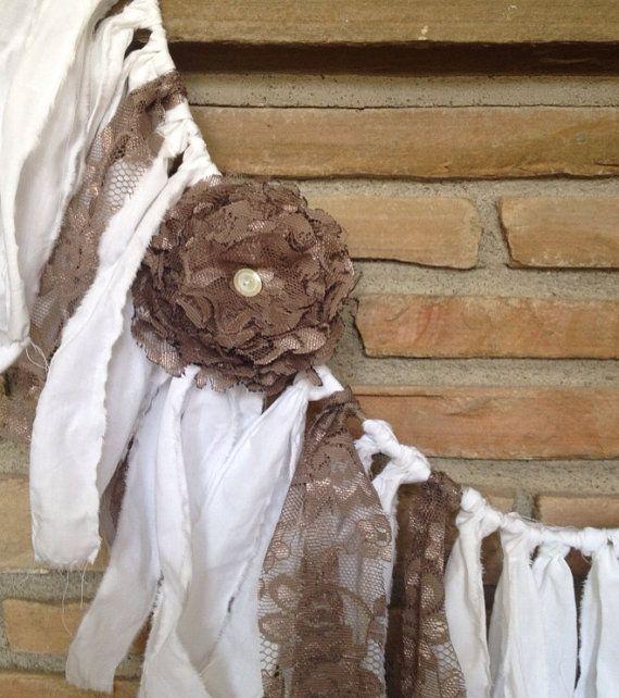 Vintage Rustic Wedding Ideas: Rustic Wedding Garland, Shabby Chic Decor, Vintage Wedding