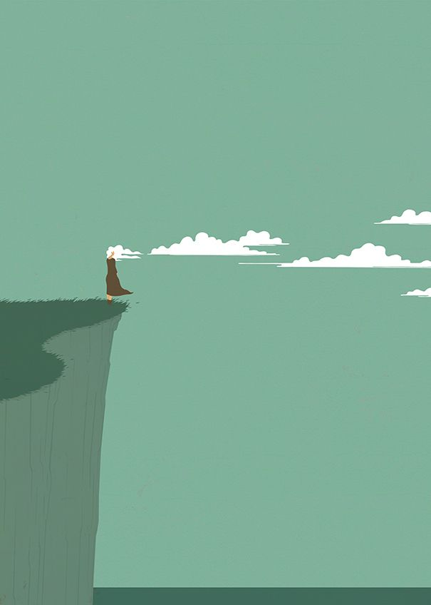 Simples e surreais ilustrações que brincam com nossas expectativas