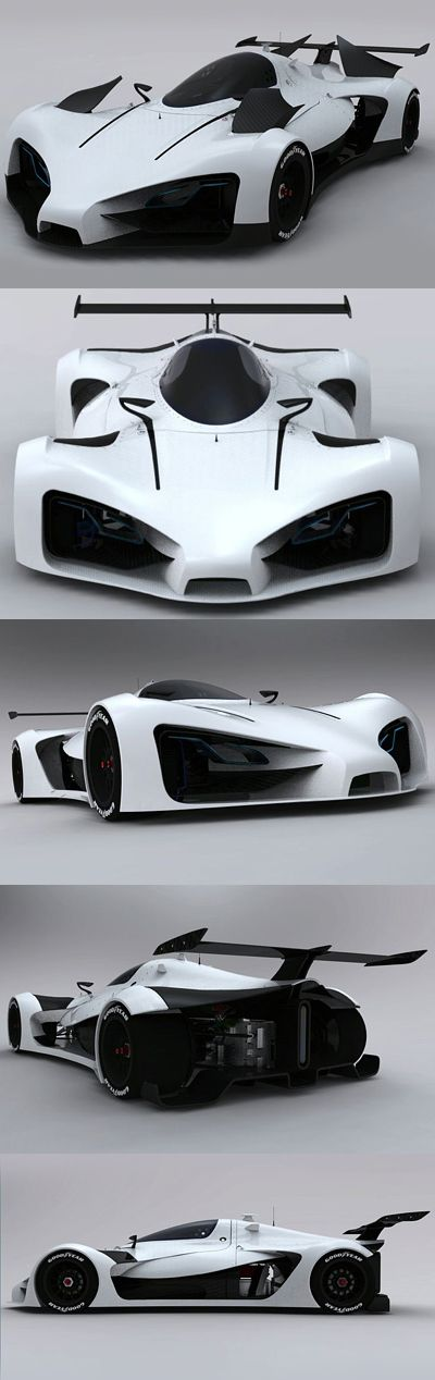 ♂ The GreenGT LeMans prototype is a vehicle designed by Thomas Clavet, a transport design student from the ISD (Institut Supérieur de Design) design school in Valenciennes, France. original from http://www.diseno-art.com/encyclopedia/concept_cars/greengt_lemans_prototype.html